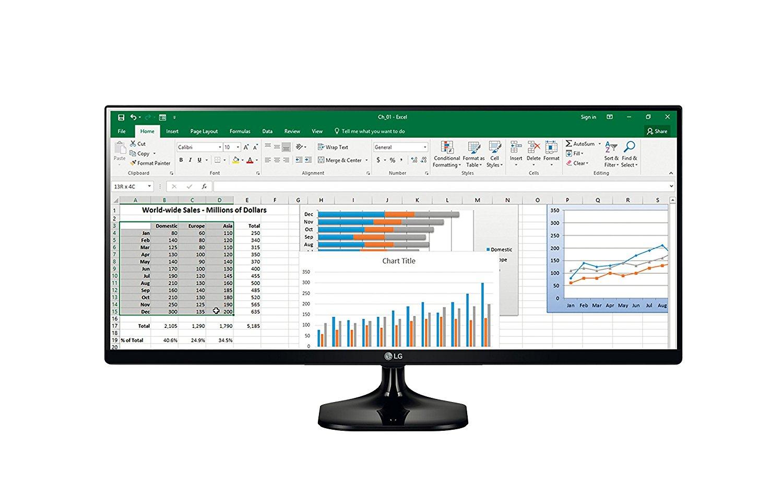 """Écran PC ultra-wide 25"""" LG 25UM58 - full HD, 2560x1080, LED IPS, 5 ms"""