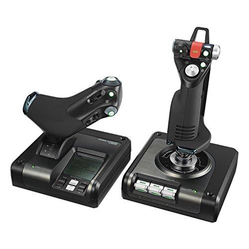 Combiné joystick et manette de gaz pour jeux vidéo Saitek X52 Pro Flight Control System (vendeur tiers)