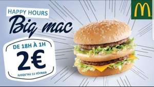 [De 18 à 1 h] hamburger Big Mac à 2€ en Bretagne
