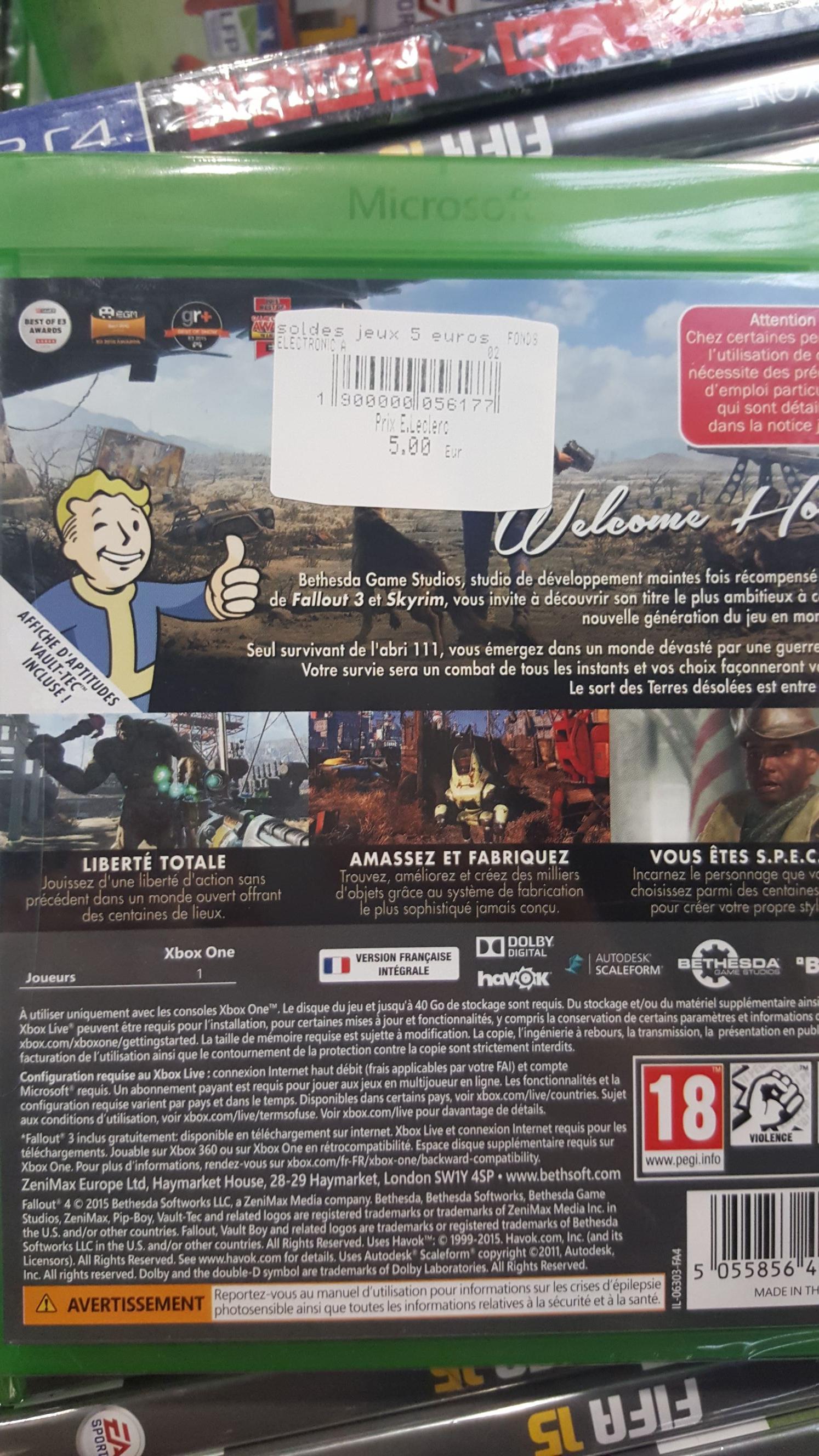 Fallout 4 sur Xbox One au E.Leclerc Le Blanc-Mesnil (93)