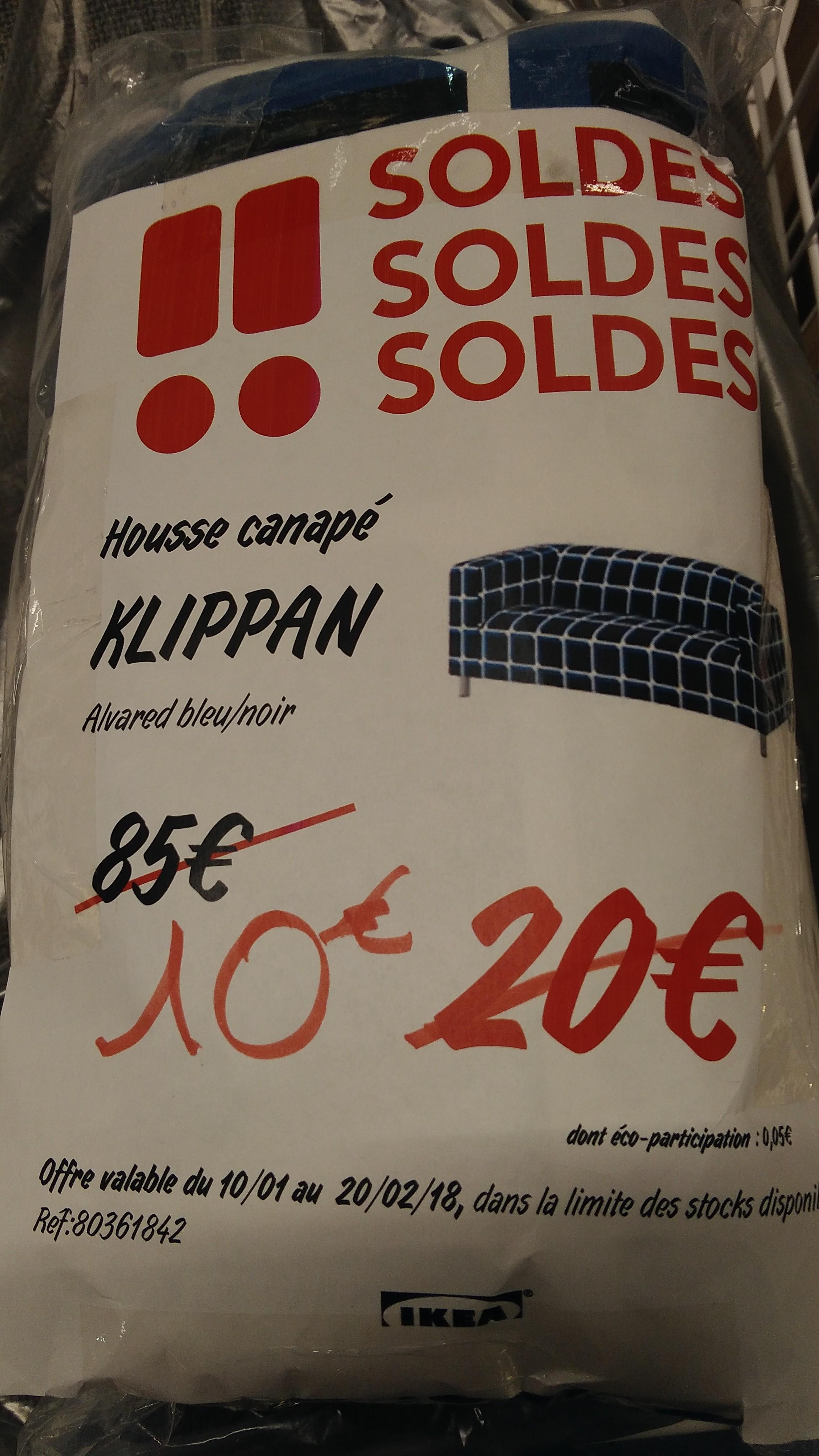 Housse Alvared bleu pour canapé Klippan à Ikea Mulhouse (68)