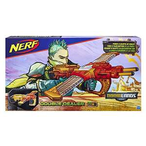 Pistolet Nerf Doomlands Double Dealer  B5367  Amazon ou Fnac