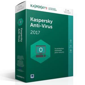 Licence 1 an Kaspersky Antivirus 2017 - 1 Poste / 1 An