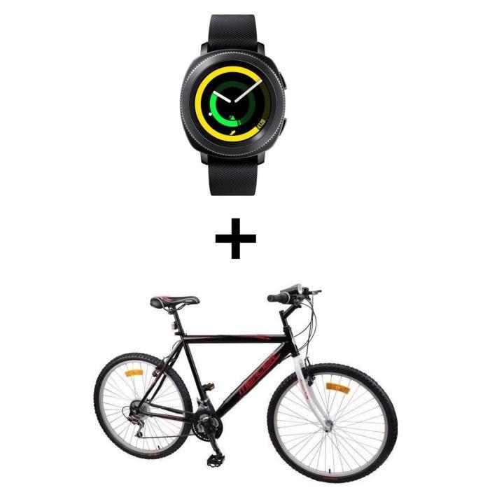 Montre connectée Samsung Gear Sport Gris + VTT Mercier (via ODR de 50€)