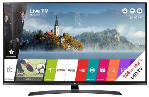 """TV 43"""" LG 43UJ635V - 4K UHD, 108cm"""