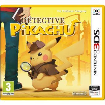 Précommande : Jeu Detective Pikachu sur Nintendo 3DS (+ 10€ offerts en chèque cadeau pour les adhérents)