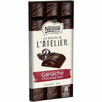 Sélection de produits en Promotion - Ex: Tablette de Chocolat Nestlé L'Atelier Ganache noir - 150g (Via BDR + Coupon Network + Quoty)