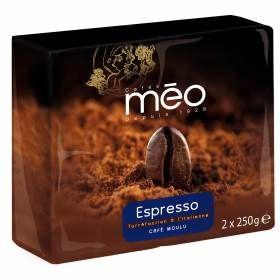 Café moulu Espresso Méo - 4 packs de 2x250g