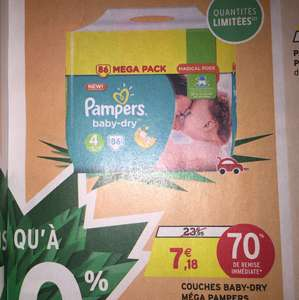 Mega Pack 86 Couches pampers Baby-Dry taille 4