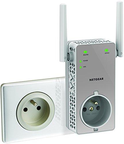 Répéteur Wi-Fi Netgear EX3800-100FRS Dual Band Blanc - AC750, 1 Port Ethernet 10/100Mbps + 2 mois offerts sur le site d'Anime Digital Network.