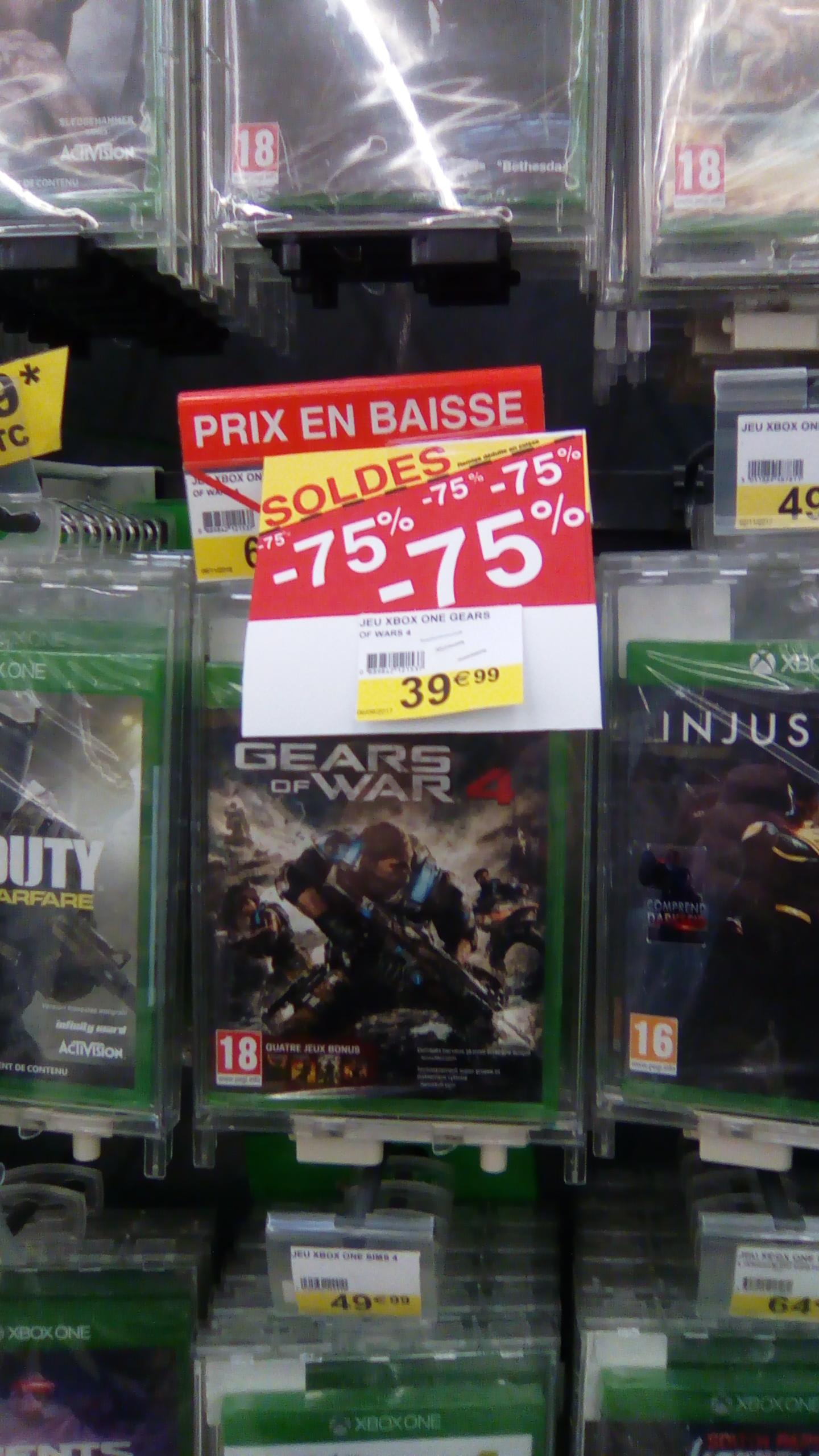 Sélection de jeux  en promo - Ex : Gears of War 4  - Cora Metz Technopole (57)