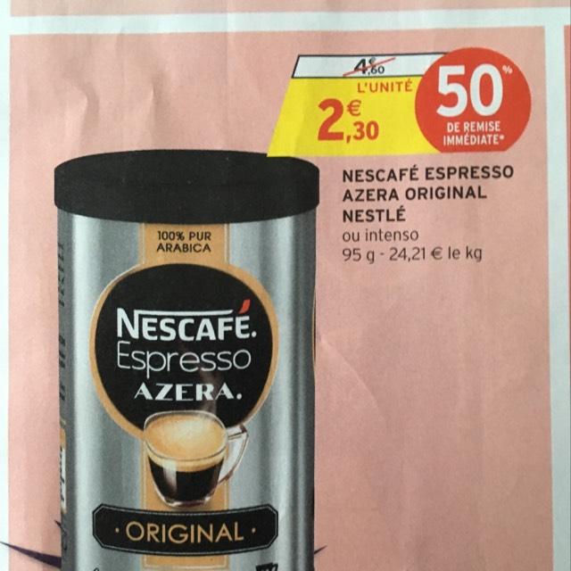 Boite de café Nescafé Expresso Azera Original (via Quoty + CN)