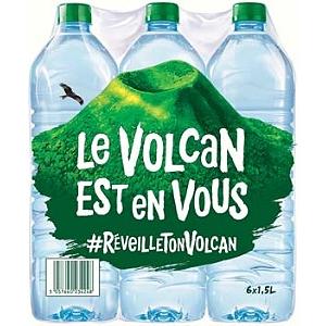 Lot de 4 Packs de 6 Bouteilles d'eau Volvic - 24x1.5L