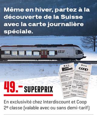 Carte Journalière CFF - 2ème classe (Frontaliers Suisse)