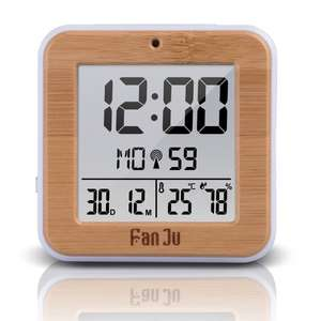 Réveil numérique Fanju FJ3533 - avec capteur de température / humidité DCF