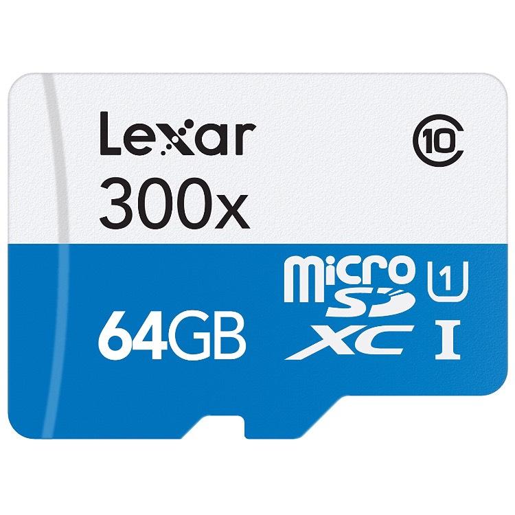 Carte microSDXC UHS-I Lexar 300x - 64 Go