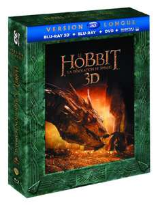 Le Hobbit la désolation de smaug version longue (Blu-ray 3D + Blu-ray + DVD + Copie digitale)