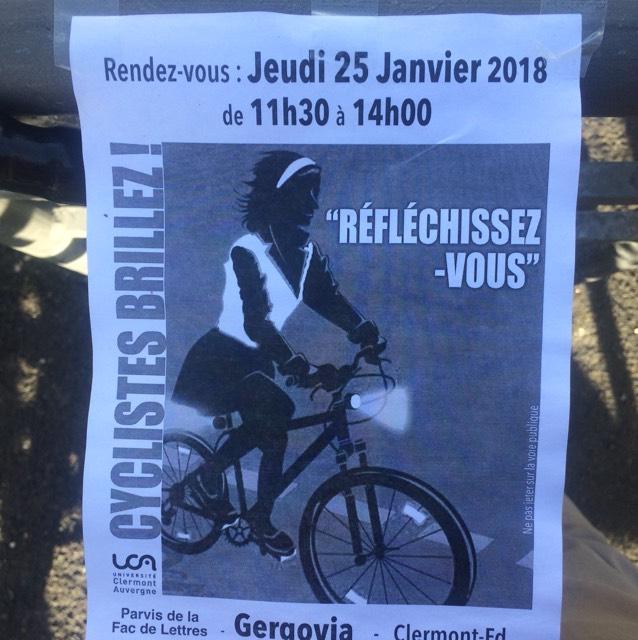 Distribution gratuite d'accessoires réfléchissants - Clermont Ferrand (63)