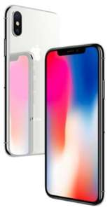 "Smarphone 5.8"" Apple iPhone X - 64Go, Argent ou Gris Sideral + 46,20€ en SuperPoints"
