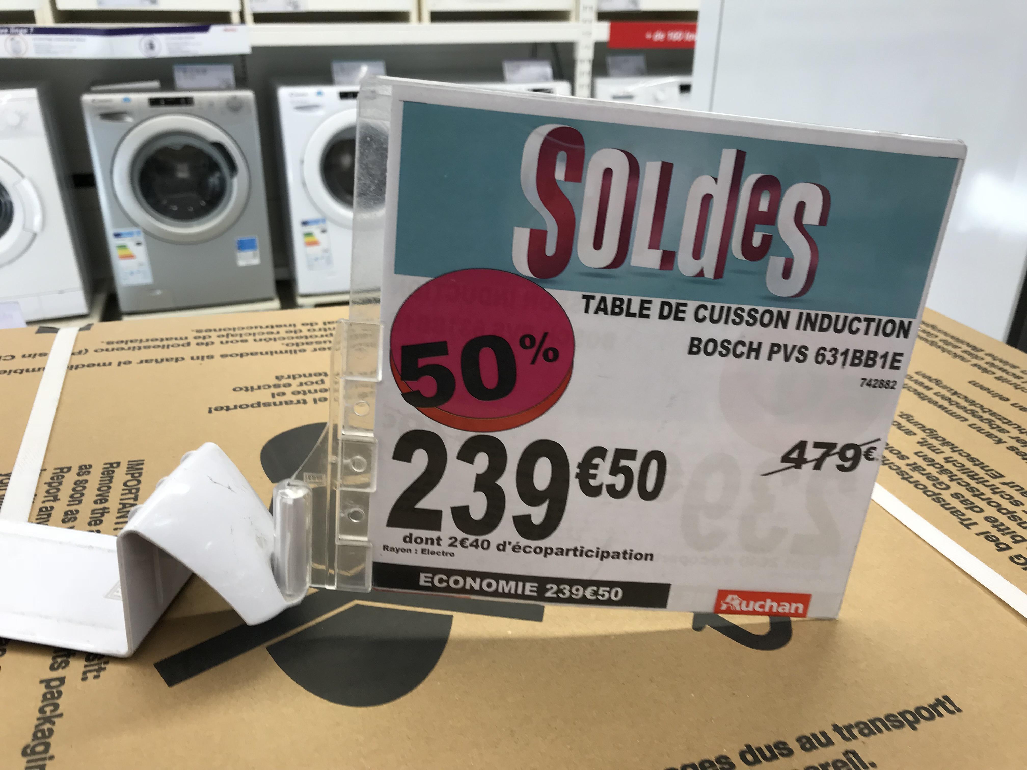 table de cuisson induction bosch PVS 631BB1E - Auchan Dardilly(69)