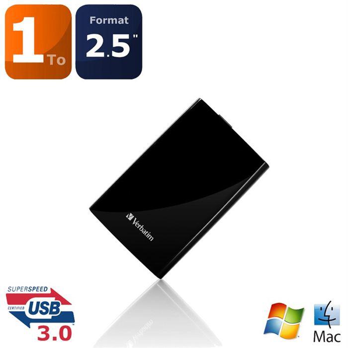 Disque dur externe USB 3.0 Verbatim Store 'n' Go Portable 1 To