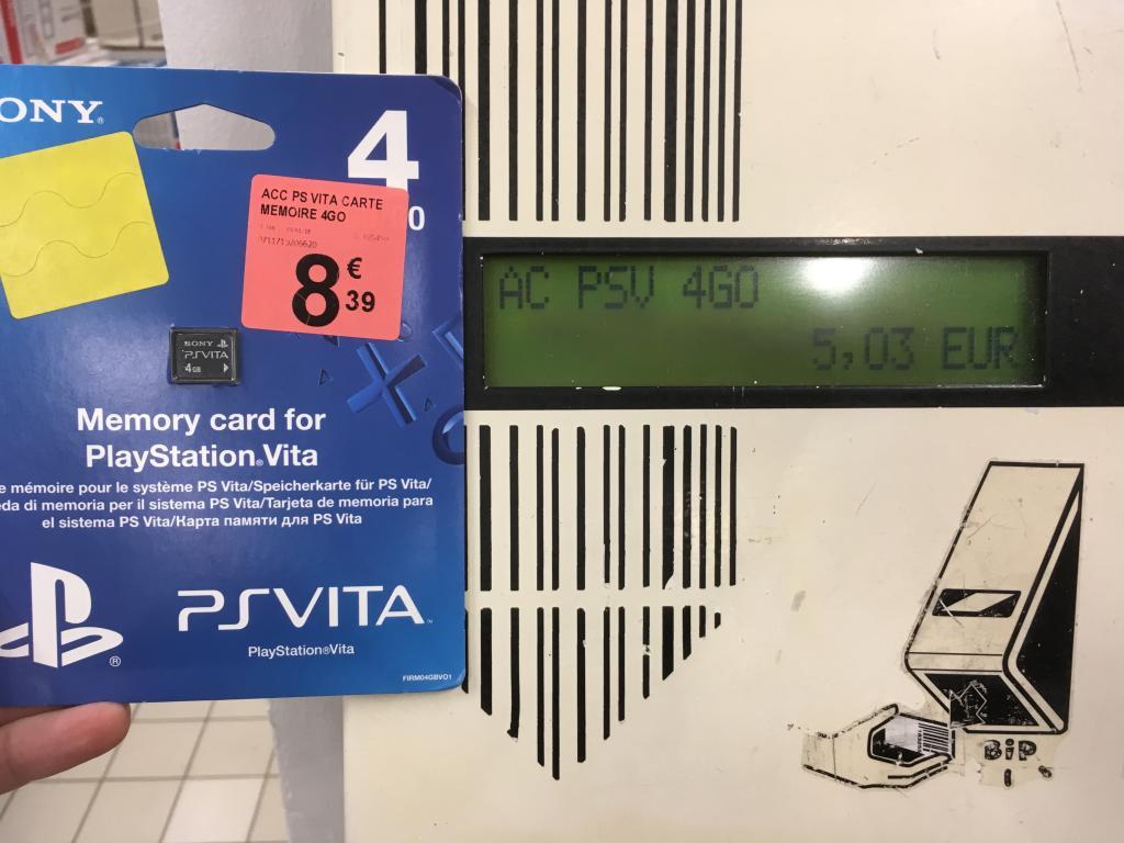 Carte mémoire pour console PS Vita - 4 Go au Géant Casino Boé (47)