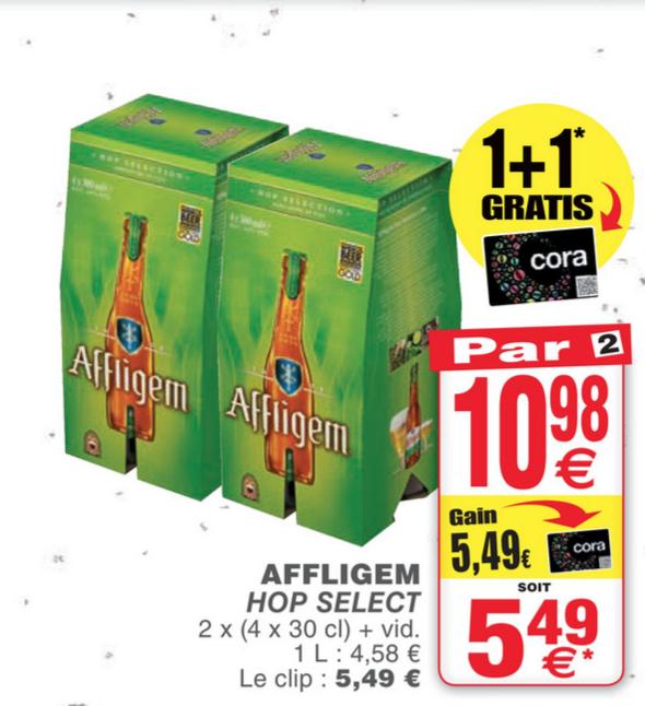 Lot de 2 pack de 4 bières Bières Affligem Hop Select, Martin's Pale Ale et Martin's IPA (frontaliers Belgique)