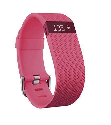 Bracelet connecté Fitbit charge hr large rose taille L - (vendeur tiers)