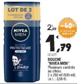 Lot de deux gels douche Nivea Men (via BDR de 1 €)