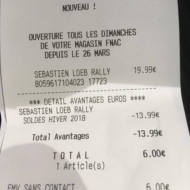 Sébastien Loeb Rally sur PS4 - Fnac Saint-Lazare (75)