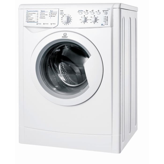 Lave-linge Indesit IWC5125FR - 5 kg, 1200 trs/min (Blanc)