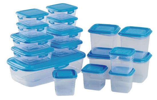 Lot de 17 boites de conservation