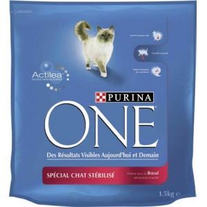 sachet de  Croquettes Purina One  pour chat stérilisé - 1.5 Kg
