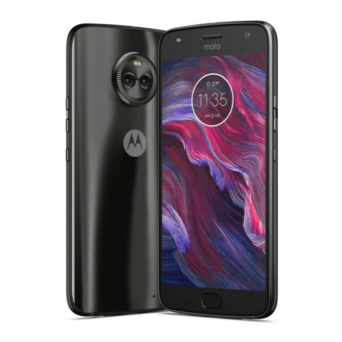 "Smartphone 5.2"" Motorola Moto X4 - Full HD, Snapdragon 630, RAM 3 Go, ROM 32 Go (Noir ou Bleu) + Enceinte bluetooth Ryght Jungle offerte"