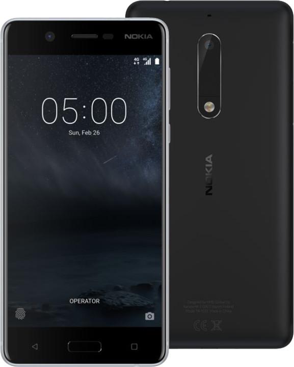 """Smartphone 5.2"""" Nokia 5 - HD, Snapdragon 430, RAM 2 Go, ROM 16 Go, B20 et B28 (Via 30€ ODR)"""
