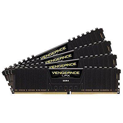 Kit mémoire DDR4 Corsair Vengeance LPX (32 Go) - 4 x 8 Go DDR4 2800 MHz Cas 14
