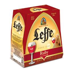 Lot de 2 packs de bière Leffe Ruby 6x25 cl (1 acheté = 1 offerte)