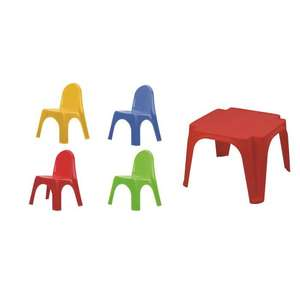 Lot VARDA : 1 Table Enfant + 4 Chaises