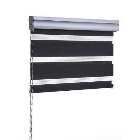Store enrouleur jour / nuit Coffre alu, noir-noir n°0, 57/60 x 160 cm - Compiègne Jaux (60)
