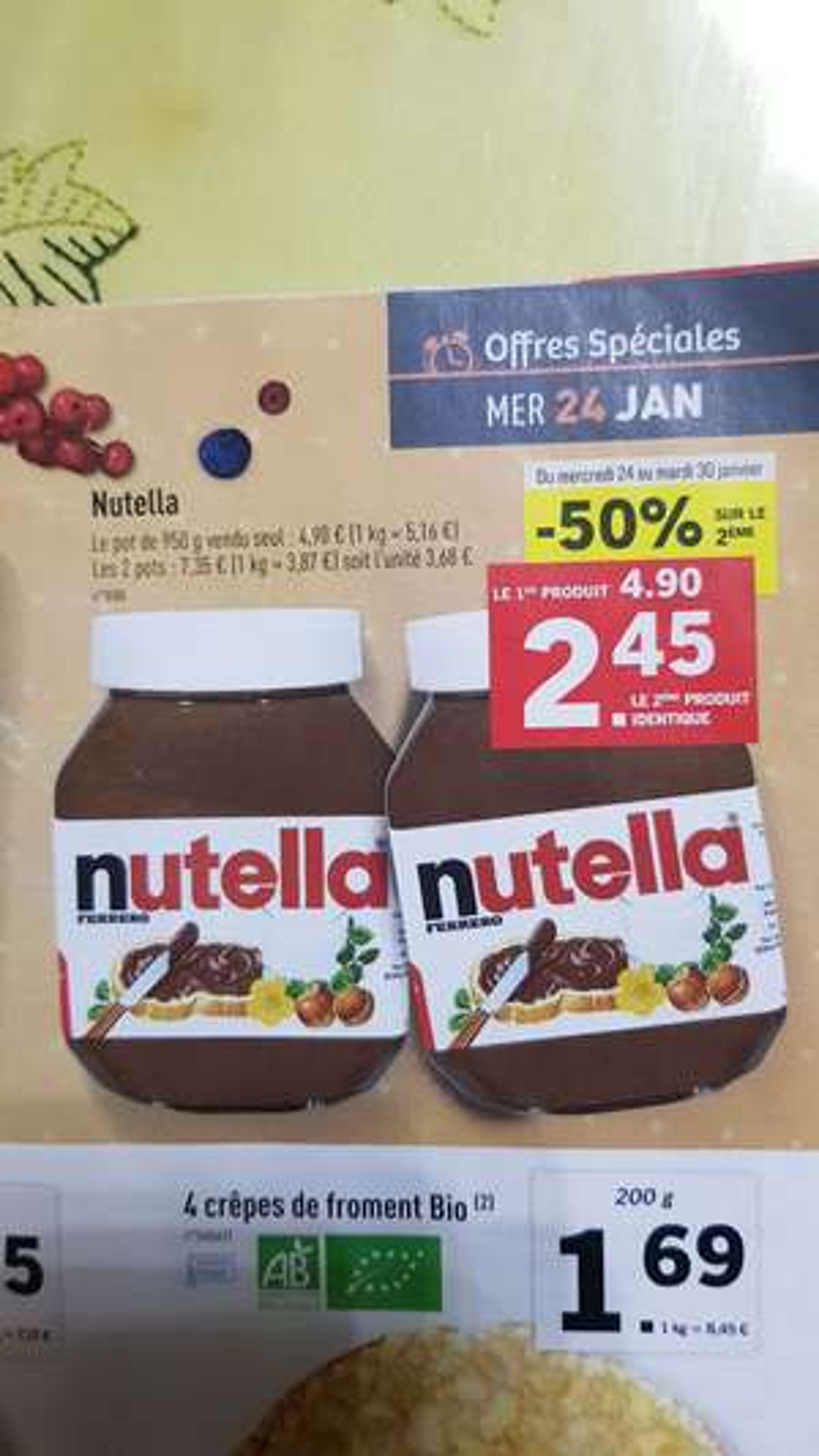 Deux pots de Nutella - 2 x 950G