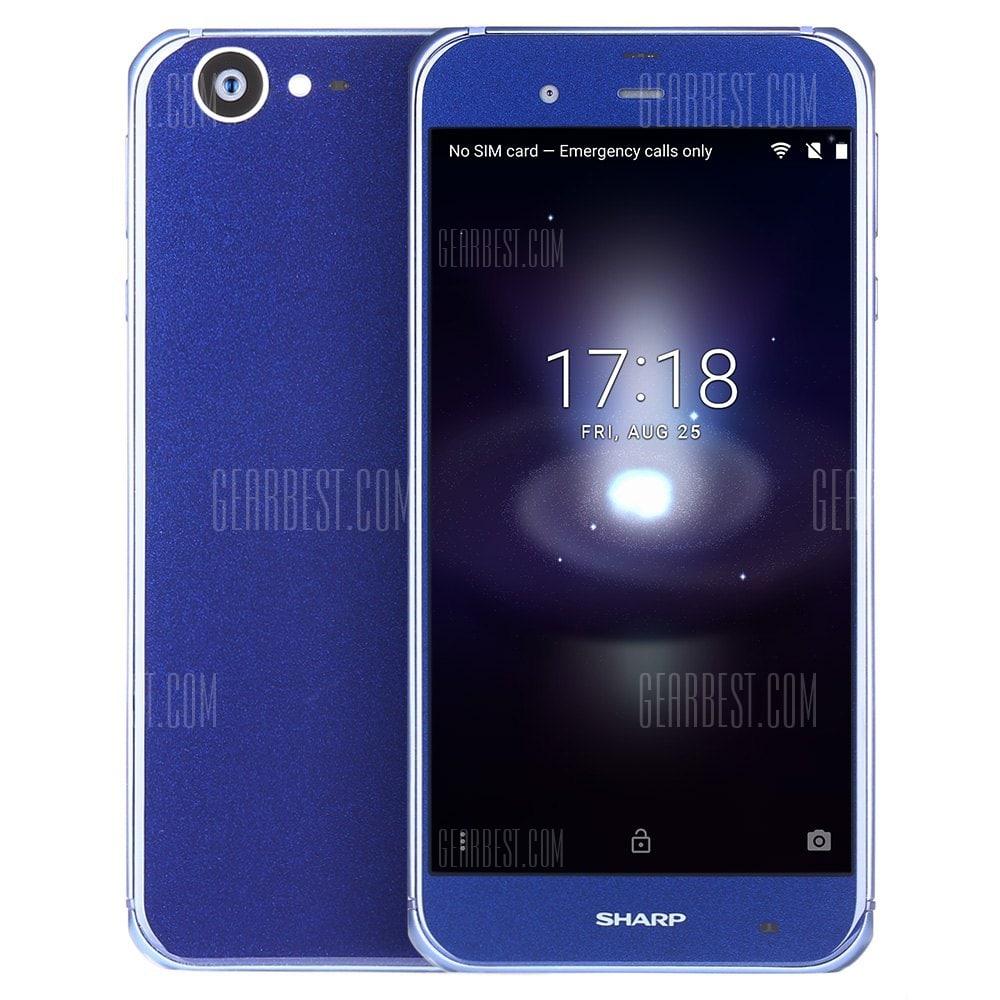 """Smartphone 5.3"""" Sharp Aquos P1 - 32Go, 3Go de Ram, 4G, Bleu"""