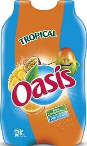 2 packs de 2 bouteilles Oasis tropical - 4 x 2L
