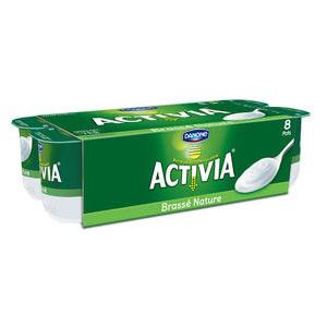 Pack de 8 yaourts Activia brassés natures (50% sur la carte + BDR)