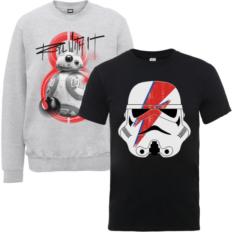 Un Sweatshirt + T-Shirt Star Wars au choix parmi une sélection
