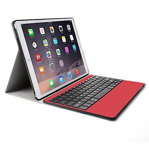 """Clavier Bluetooth QWERTY Sans Fil Rechargeable avec Étui de Protection pour iPad Pro 9.7"""", Rouge (vendeur tiers)"""