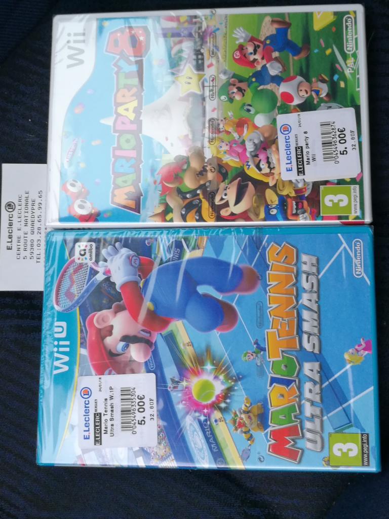 Mario Tennis Ultra Smash ou Mario Party 8 sur Nintendo Wii U - Quaedypre (59)