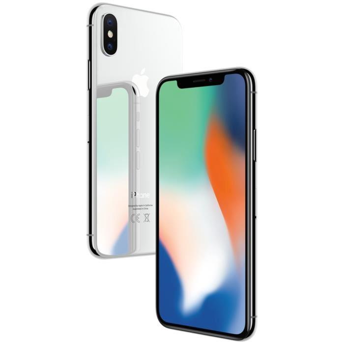 """[Cdiscount à volonté] Smartphone 5.8"""" Apple iPhone X - 64 Go, Argent"""