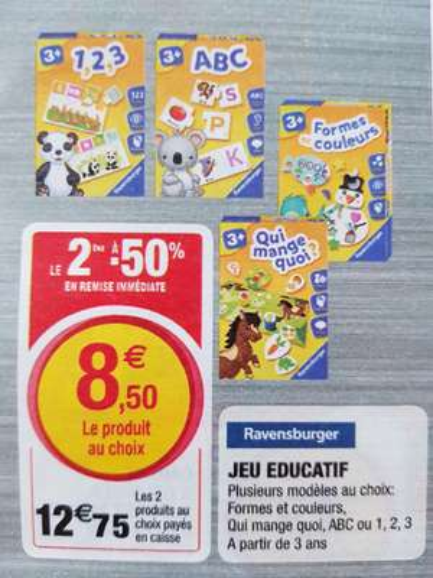 Lot de 2 jeux éducatifs Ravensburger (via ODR) - Hyper U