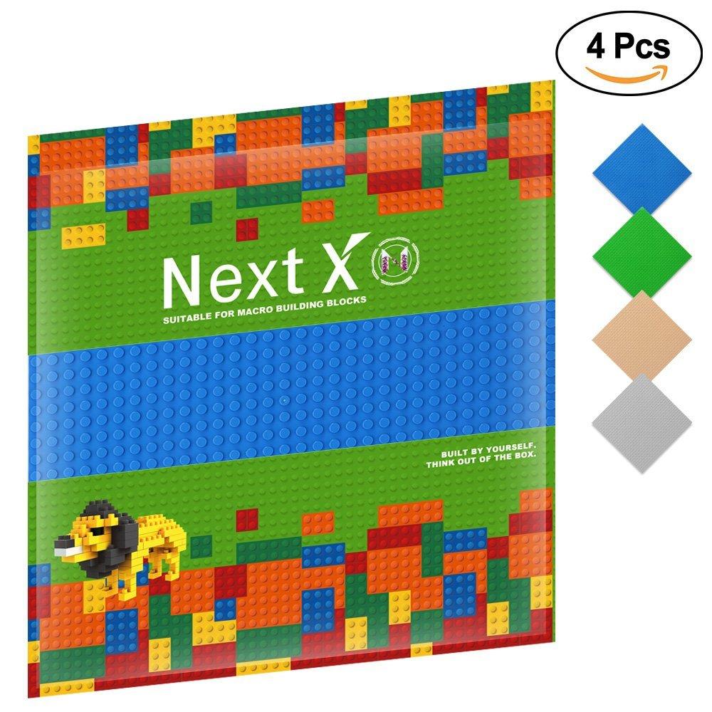 4 Plaques de Base NextX pour Jeux de Construction - 25 x 25 cm (vendeur tiers)