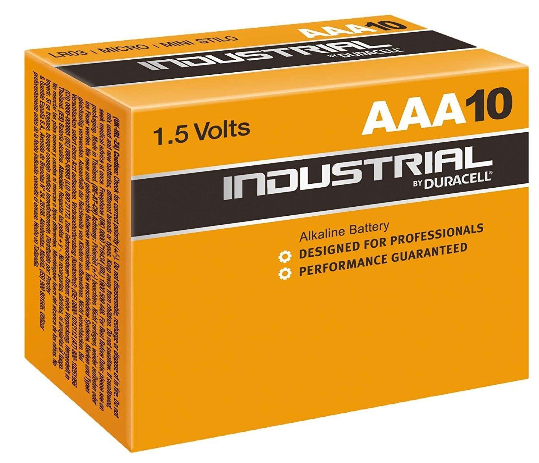 Lot de 10 Piles AAA LR03 Duracell Industrial ID2400B10B10 - 1.5V